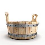 Tina de madera para lavarse Imágenes de archivo libres de regalías