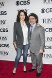 Tina Fey e Jeff Richmond immagini stock