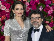 Tina Fey and Jeff Richmond at 2018 Tony Awards royalty free stock image