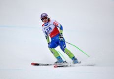 Tina Maze on FIS Alpine Ski World Cup  2011/2012 Royalty Free Stock Photo