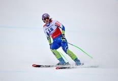 Tina Maze op de Alpiene Kop van de Wereld van de Ski FIS 2011/2012 Royalty-vrije Stock Foto