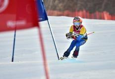 Tina Sutton Memorial - eslalom Ski Competition Fotos de archivo libres de regalías