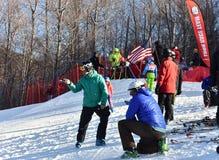 Tina Sutton Memorial - eslalom Ski Competition Imagen de archivo libre de regalías