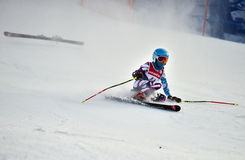 Tina Sutton Memorial - Slalom Ski Competition Stockbild