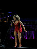 Tina Turner Phasen im Prag-Konzert Stockbild
