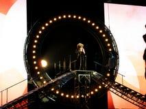 Tina Turner in tensione nel concerto di Praga Immagini Stock