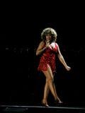 Tina Turner in tensione nel concerto di Praga Immagine Stock Libera da Diritti