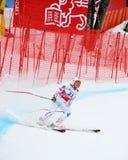 Tina Weirather sulla tazza di mondo alpina del pattino di FIS Fotografia Stock