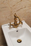 Tina y fregadero interiores del cuarto de baño Fotografía de archivo libre de regalías
