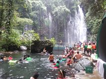 Tinago Falls in Philippines Royalty Free Stock Photography