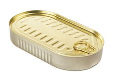Tincan With Key Royalty Free Stock Image