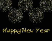 Étincelles et feux d'artifice de bonne année Image libre de droits