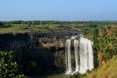 Waterfall and Landscape India Stock Image