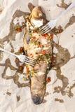 Tinche arrostite del pesce Fotografie Stock