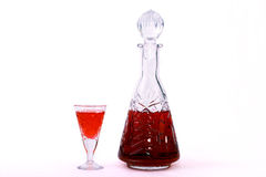 Tincture. Infused on vodka and beer honey the cranberry, possesses curative properties Royalty Free Stock Photography