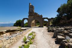 TINDARI ARCHAEOLOGY POLIS. Tindari Sicily, Italy - Tindari Sicily, Italy - Archaeological area of Tindari, the ancient greek polis founded in 396 AC by Dionysius Stock Images