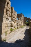 TINDARI ARCHAEOLOGY POLIS. Tindari Sicily, Italy - Tindari Sicily, Italy - Archaeological area of Tindari, the ancient greek polis founded in 396 AC by Dionysius Royalty Free Stock Photography