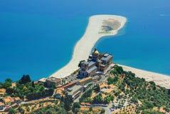 Tindari Sicilien domkyrka arkivfoton