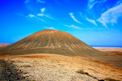 Tindaya area in Fuerteventura at Canary Islands Royalty Free Stock Photography