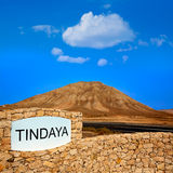 Tindaya mountain Fuerteventura Canary Islands Stock Photo