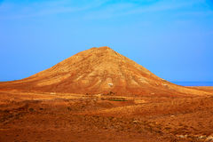 Tindaya mountain Fuerteventura Canary Islands Royalty Free Stock Image