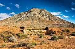 Tindaya mountain, Fuerteventura,. Tindaya mountain, holy mountain in the north of Fuerteventura, Canary Islands, Spain Royalty Free Stock Photo