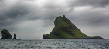 Tindholmur on Faroe islands. Stock Photo