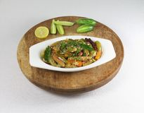 Tindora o Ivy Gourd Indian Vegetarian Curry in una ciotola Fotografie Stock