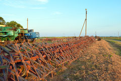 Tine harrow. Agricultural machinery and equipment. Stock Photography