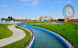 Tineretului Park in spring Stock Photo