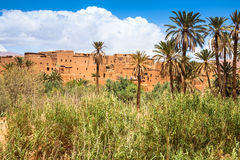 Tinerhir village near Georges Todra at Morocco Royalty Free Stock Photo