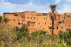 Tinerhir village near Georges Todra at Morocco Stock Photography