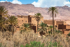 Tinerhir village near Georges Todra at Morocco Royalty Free Stock Images