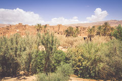 Tinerhir village near Georges Todra at Morocco royalty free stock image