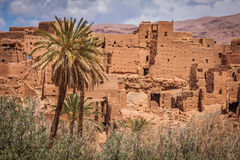 Tinerhir village near Georges Todra at Morocco Stock Images