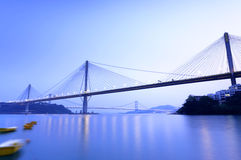 Ting Kau Bridge. In Hong Kong Royalty Free Stock Photo