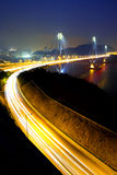 Ting Kau Bridge. In Hong Kong at night Stock Image