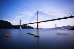 Ting Kau Bridge in Hong Kong. Landmark Ting Kau Bridge in Hong Kong Royalty Free Stock Photo