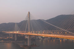 Ting Kau Bridge, Hong Kong. Ting Kau Bridge at dusk, Hong Kong Stock Photos