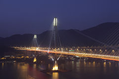 Ting Kau Bridge, Hong Kong. Ting Kau Bridge at night, Hong Kong Royalty Free Stock Photos