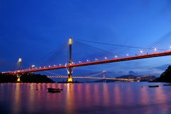 Ting Kau Bridge in Hong Kong. It is one of the most famous bridge in the world Stock Photography