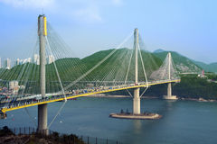 Ting Kau Bridge in Hong Kong Stock Image