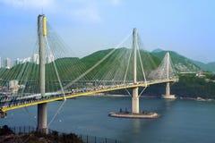 Ting Kau Bridge in Hong Kong Stock Image