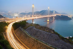 Ting Kau Bridge in Hong Kong.  Stock Photography