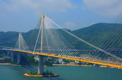 Ting kau bridge, hong kong. View of ting kau bridge from the lantau link visitors centre and observation deck, hong kong Royalty Free Stock Photo