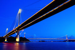 Ting Kau Bridge in Hong Kong Royalty Free Stock Images
