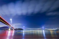 Ting Kau Bridge of Hong Kong Stock Images