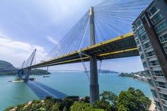 Ting Kau Bridge of Hong Kong Stock Image