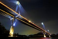 Ting Kau Bridge at night Royalty Free Stock Photos