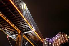 Ting Kau Bridge at night Stock Images